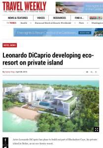DiCaprio Belize